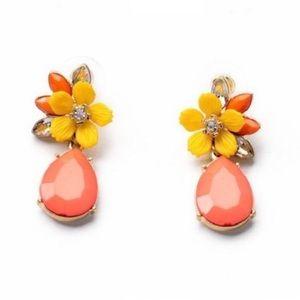Kate Spade Crystal Flower Drop Earrings